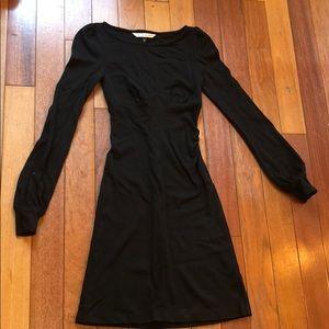 Diane Von Furstenberg black long sleeve dress 0